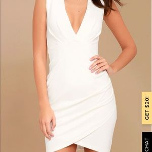 Lulus Cocktail Hour White Wrap Dress